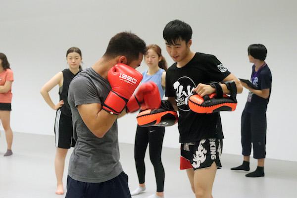 muay thai practice