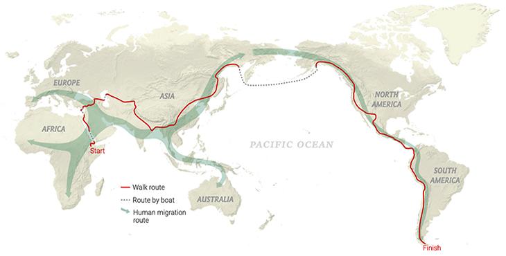 Map of Paul's walk