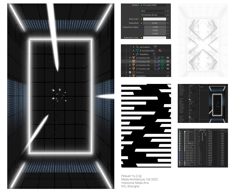 A partial screenshot of Yu's final project poster.