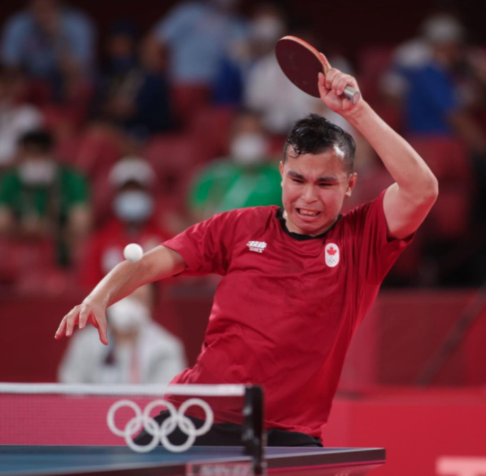 Hazin takes a shot during Olympic play