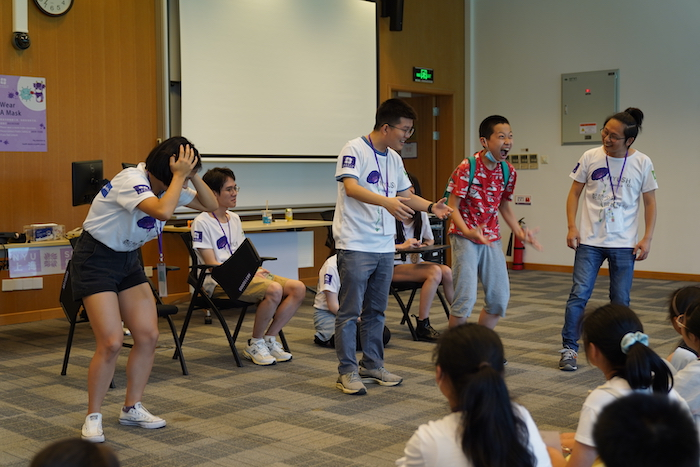Migrant students participated in activities during NYU Shanghai's College and Career Lab