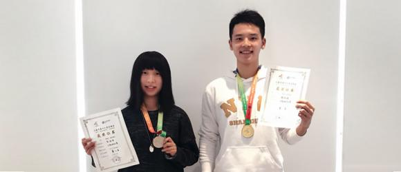 Freshmen Yang Zhiheng and Bao Handan Bring Tennis Glory from 16th Shanghai Games to NYU Shanghai