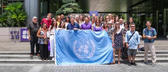 UN delegation on campus