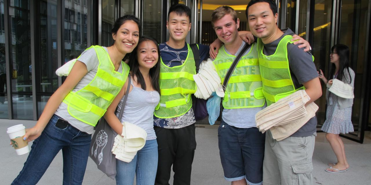 NYU Shanghai Held Fire Drill, August 27, 2014. (Photo by Rhine Lu)