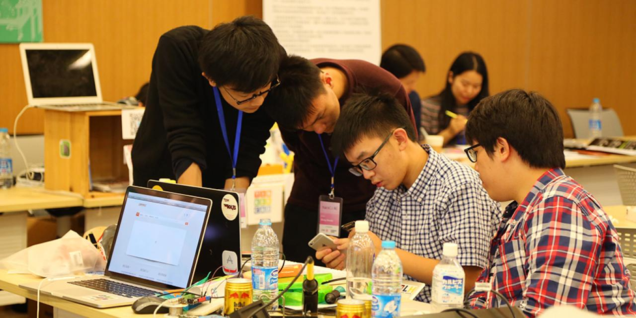 HackShanghai at NYU Shanghai on November 7-8, 2015. (Photo by: Wenqian Hu)