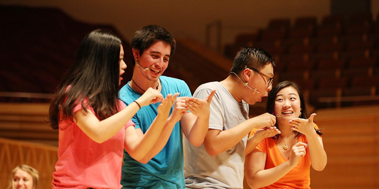 2015 NYU Shanghai Reality Show took place on September 11, 7:30pm, at Shanghai Symphony Hall. The Reality Show is an hour long musical performance created by members of the Class of 2018. (Photo by Dylan J Crow)