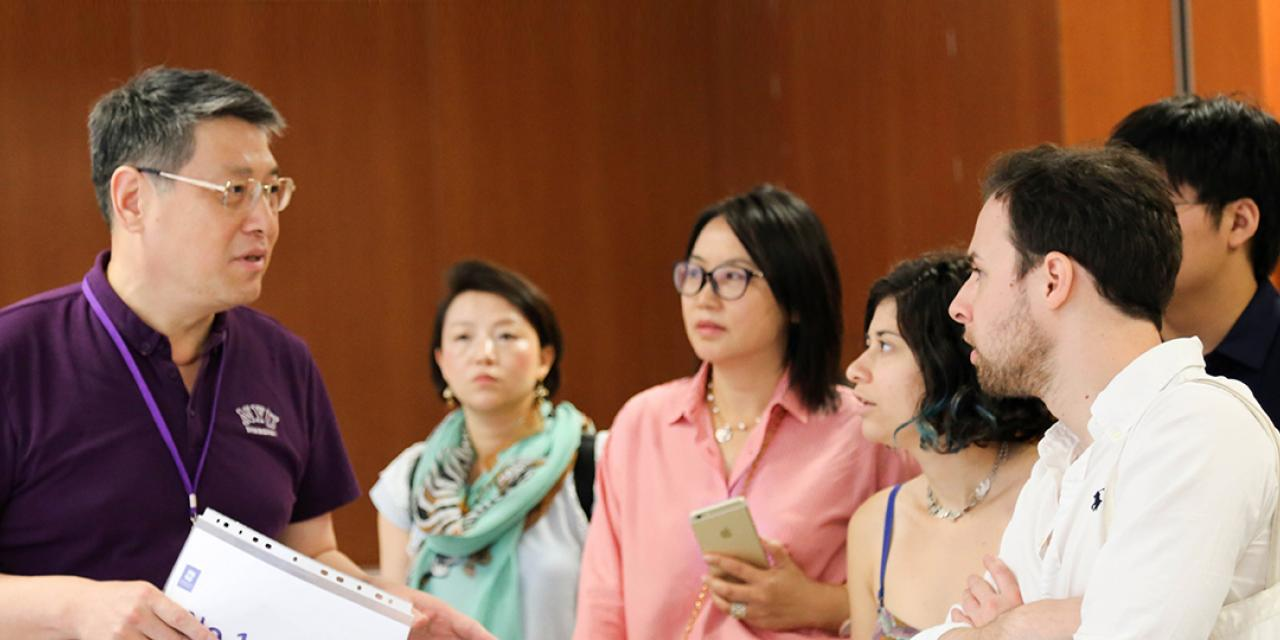 A delegation from the United Nations visited NYU Shanghai on July 18, 2015. (Photo by Jane Xu)