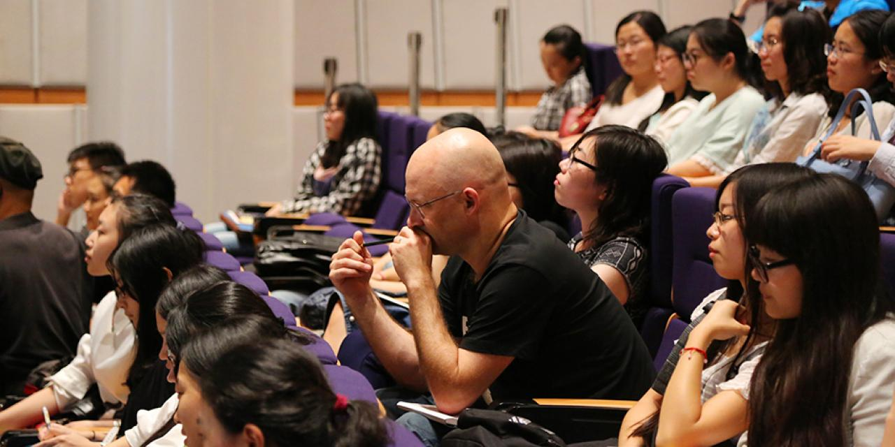 Sino-US Youth Dialogue Radio Show @ NYU Shanghai on Sept. 16, 2015. (Photo by Sunyi Wang)