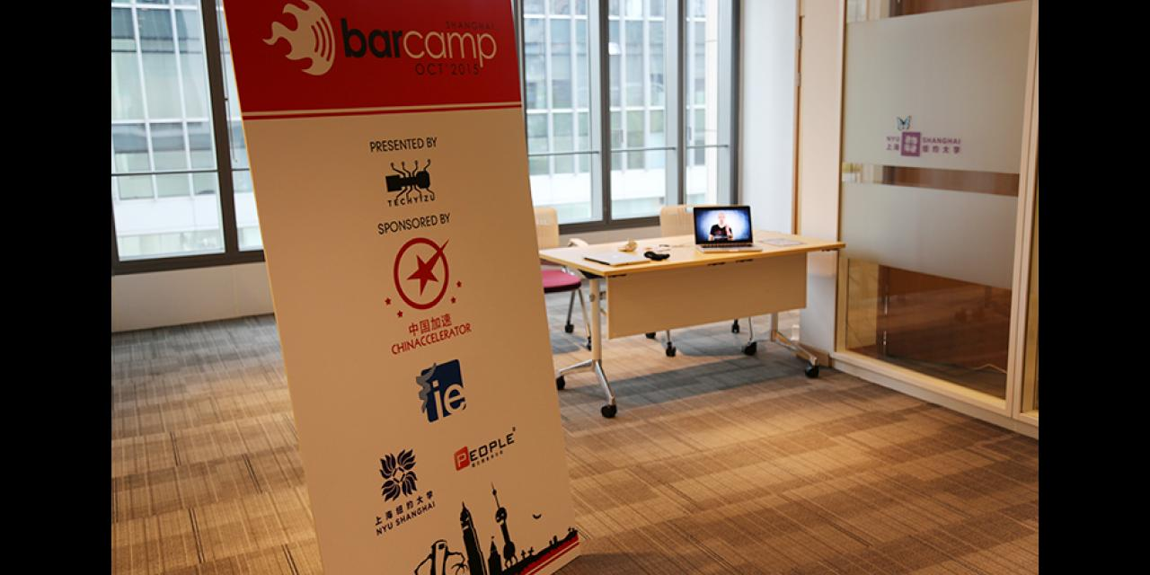 Barcamp at NYU Shanghai on October 24, 2015. (Photo by: Shikhar Sakhuja)