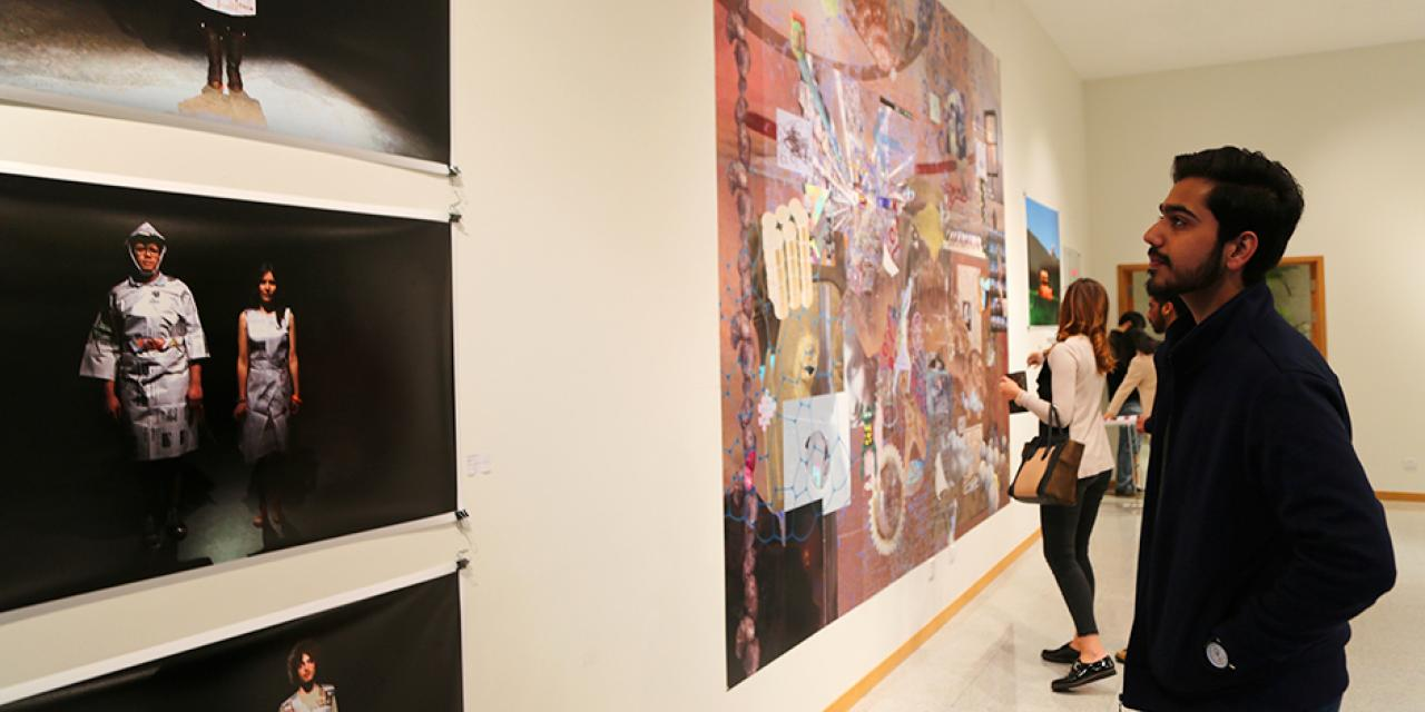 A group show titled REKNOWN, featuring the works of Gerald Pryor and the Chinese artists who studied with him at New York University opened on February 19. (Photo by: Sunyi Wang)