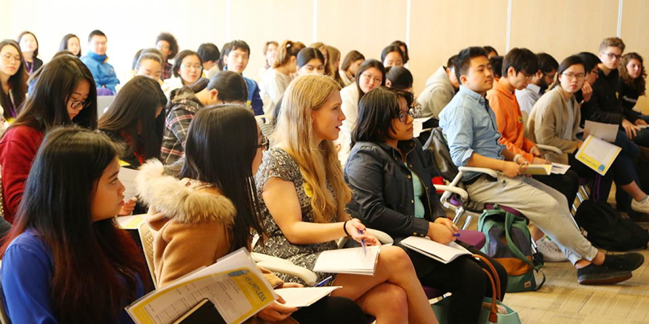 Students from all classes heard from inspiring speakers and attended hands-on workshops at the first ever I Am Limitless Student Conference hosted by Career Development and Academic Advising on February 20. (Photo by: Wenqian Hu)