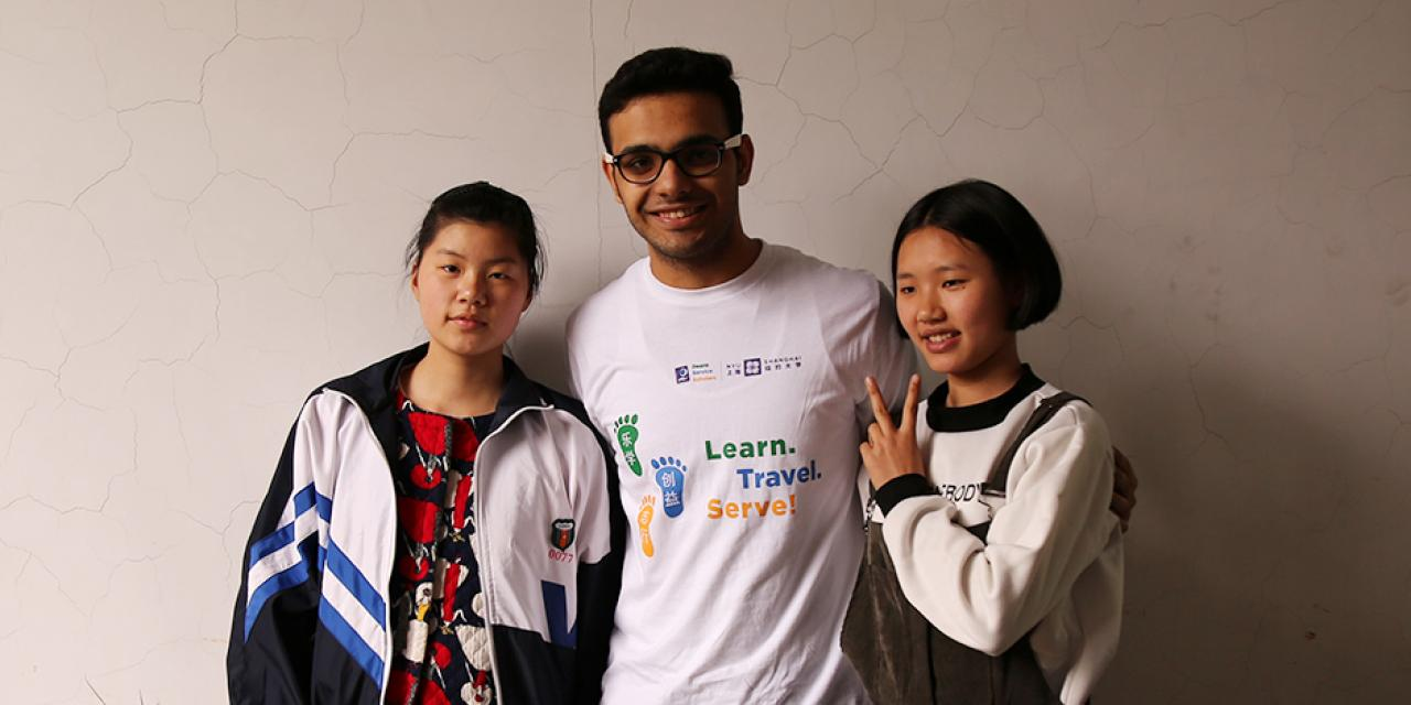 Twelve students from NYU Shanghai visited Hunan Province under a Dean's Service Scholar (DSS) trip for rural education work during March. NYU Shanghai students used project-based methods to present English lessons at the Suining No. 1 High School. (Photos by: Shikhar Sakhuja)