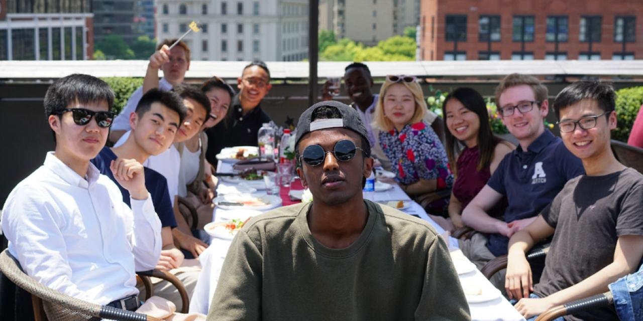 May 4 -- Seniors brunched, enjoyed the view, and reminisced about the last four years at Kathleen's Bistro on the Bund.