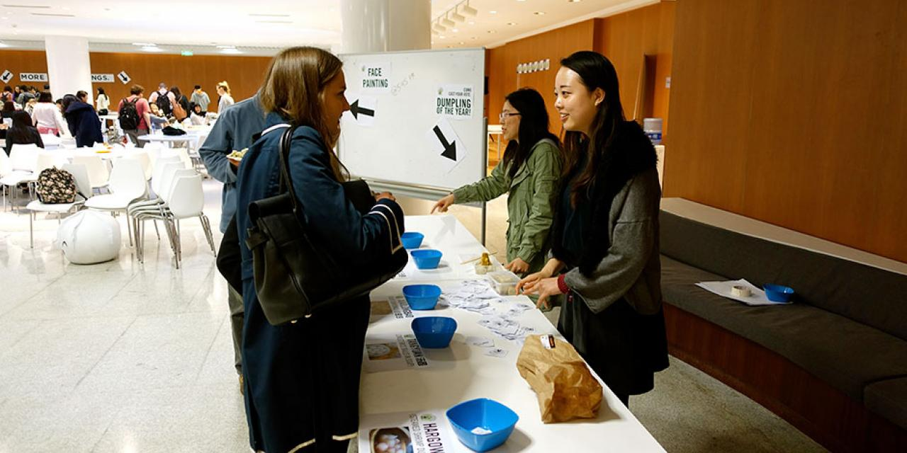 Featuring nearly every type of dumpling imaginable, NYU Shanghai's annual Dumpling Fest gave students something to talk about—and eat! April 10, 2015. (Photo by Yilun Yan)