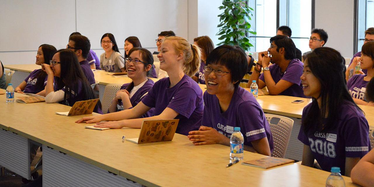 "The Orientation Ambassadors attend a ""Working Styles"" workshop. April 25, 2015. (Photo by Shelly Lu & Joyce Tan)"