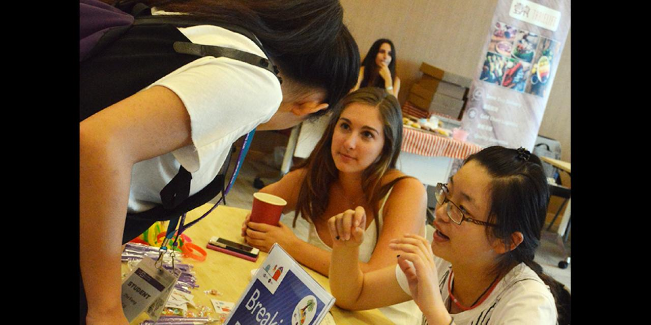 On-campus job and involvement fair on August 29, 2015. (Photo by Lijie Wang)
