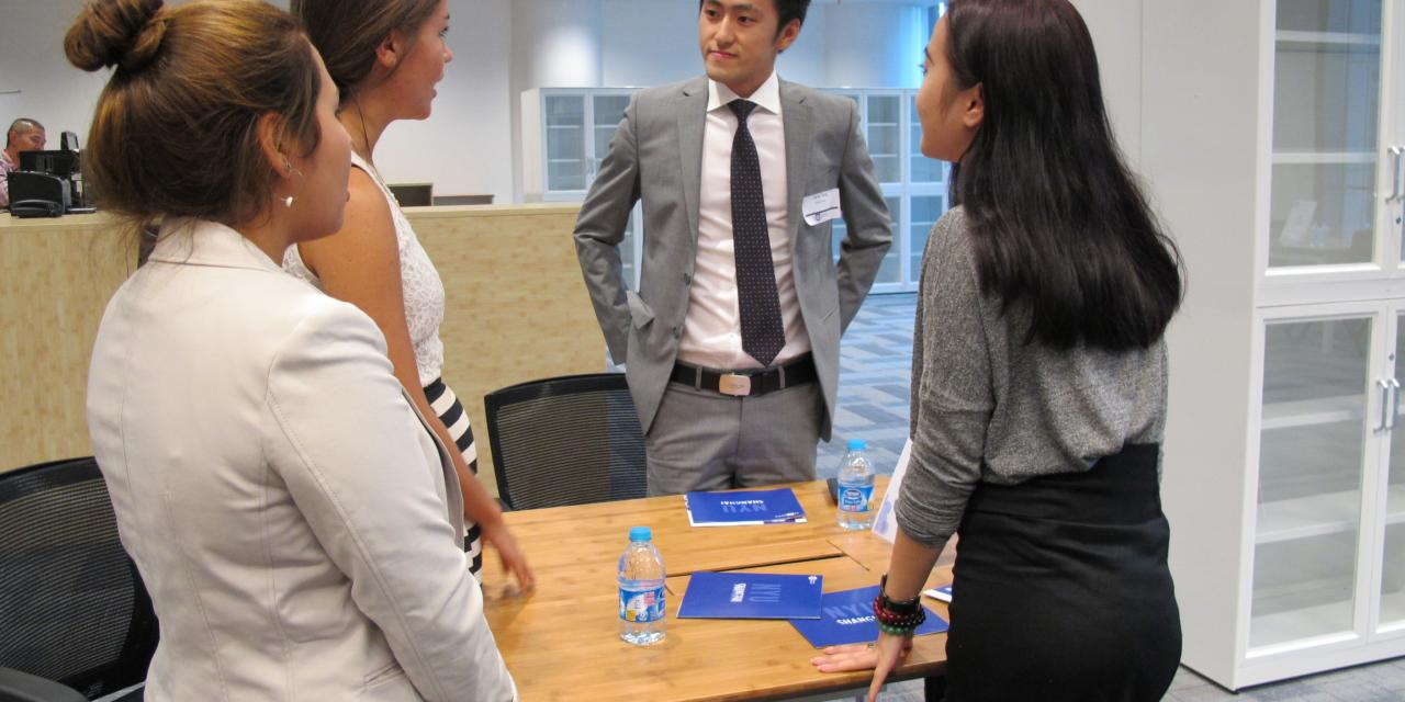 Fall Internship Fair, August 29, 2014. (Photo by Danni Wang)