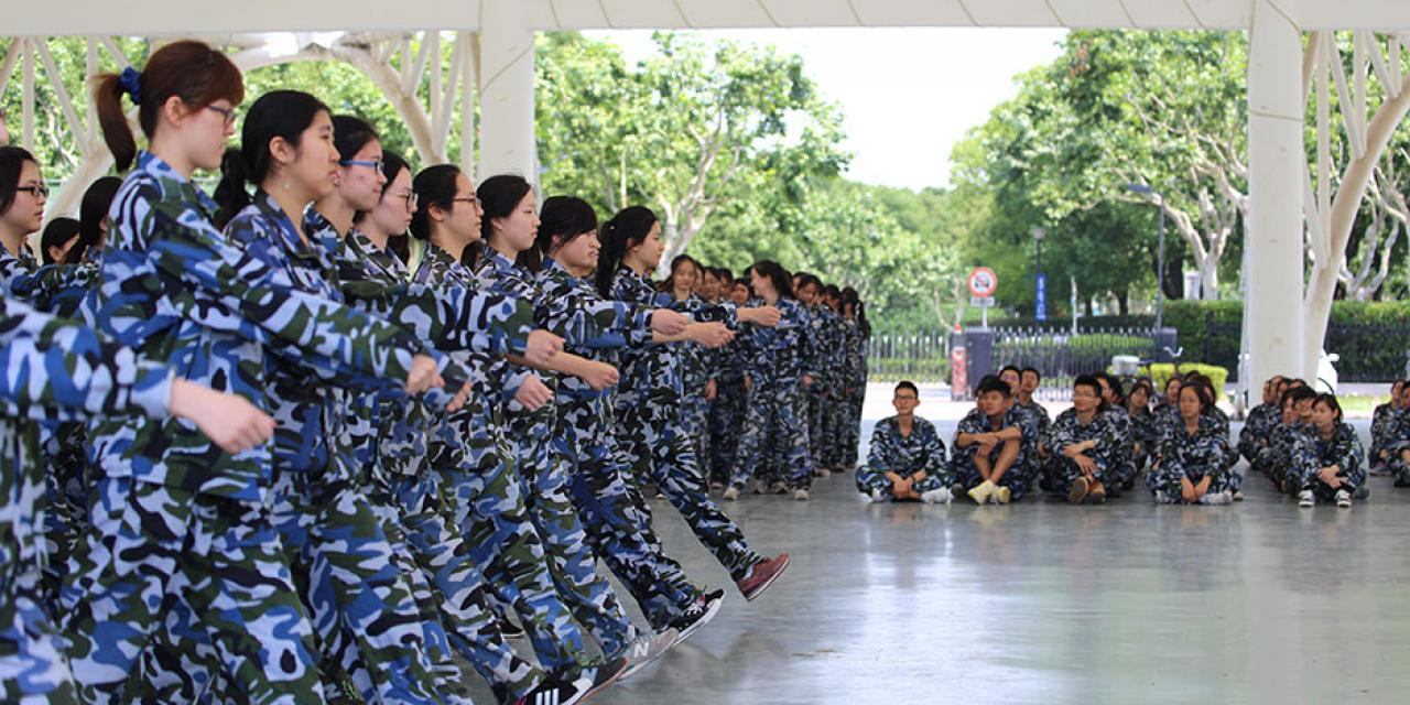 NYU Shanghai students participate in this year's military training at Oriental Land. May 23-June 1, 2015. (Photos by Yifan Hu, Weicheng Zhu, & Yilun Wu)