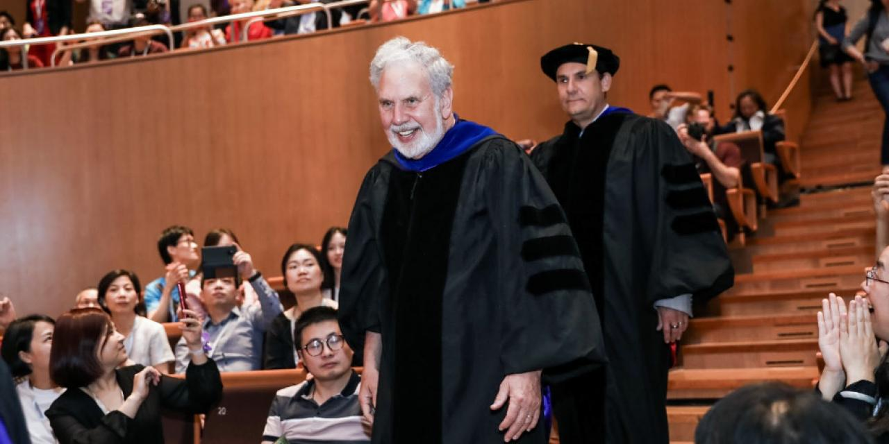 Former NYU President John Sexton also attended the Commencement Ceremony