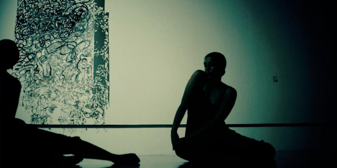 "Inspired by paper artist Leah Lihua Wong's works ""Random Happenstance"" and ""Illuminating,"" dancers Janice Luo and Isabel Adler performed ""Two"" by Aly Rose at Shanghai's Museum of Contemporary Art."