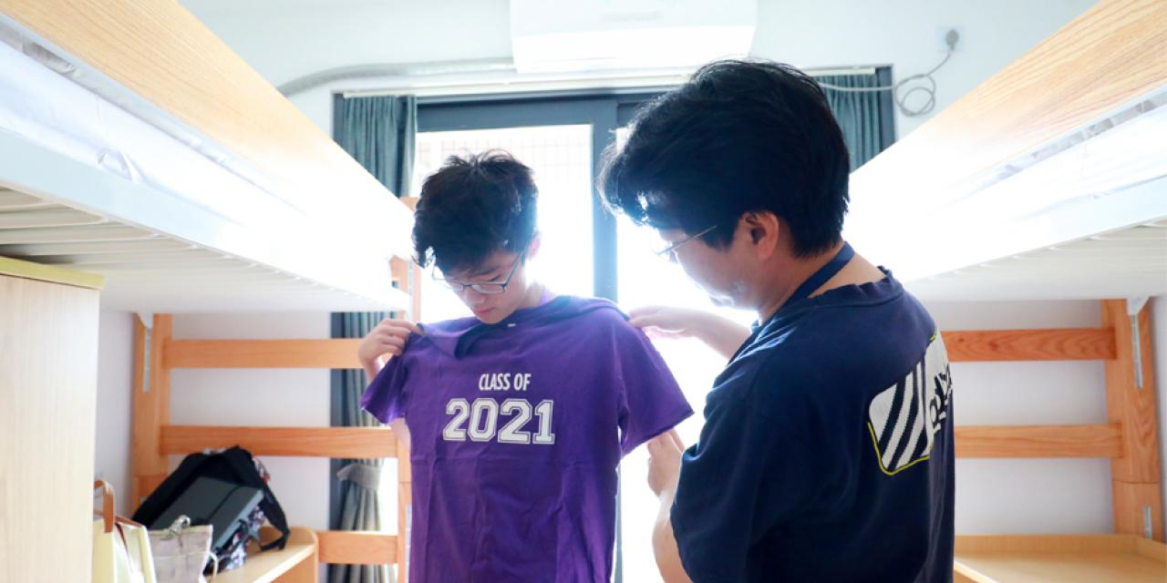 Students from 47 countries around the world moved into their new home at Jinqiao residence today. Here are some of our favorite moments from an at times very wet Move-In Day! (Photo by: Jia Li )