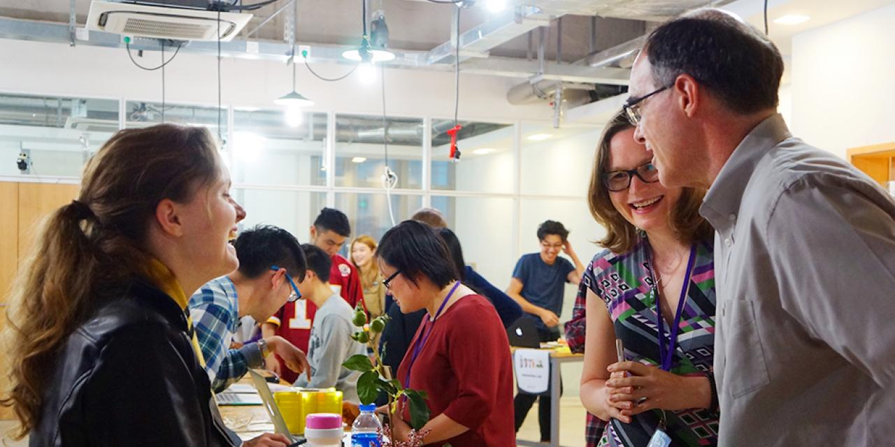 Students majoring in Interactive Media Arts at NYU Shanghai presented their works in various mediums at the End of Semester Show on May 13.  (Photos by: NYU Shanghai)