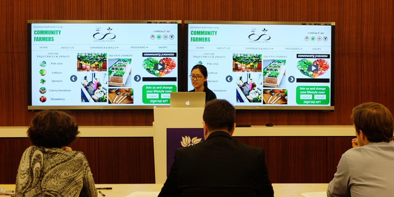 "Students came together on March 5 and 6 to address ""food issues"" such as recycling, composting and food waste at this year's Sila Connection Shanghai. (Photo by: NYU Shanghai)"