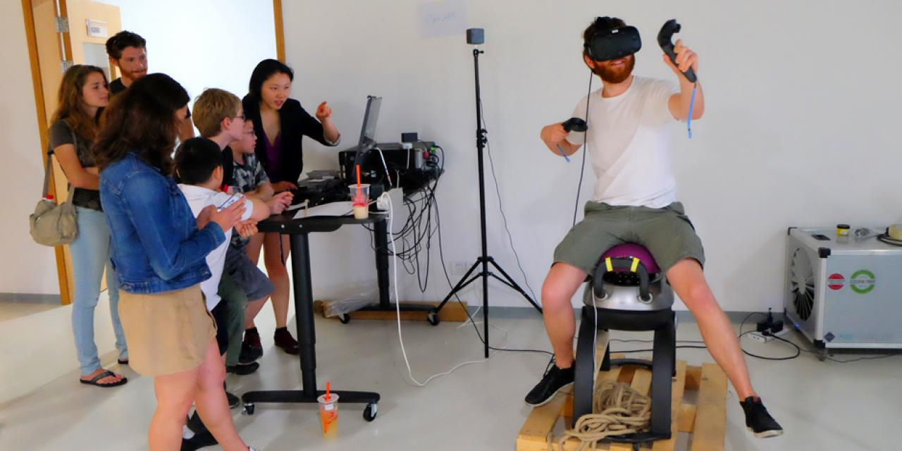 "The end-of-semester Interactive Media Arts Show on May 19 saw students present creations from a huge span of courses including ""The Nature of Code,""  ""Exploring Sonic Environments,"" and ""Animation."" (Photos by: NYU Shanghai)"