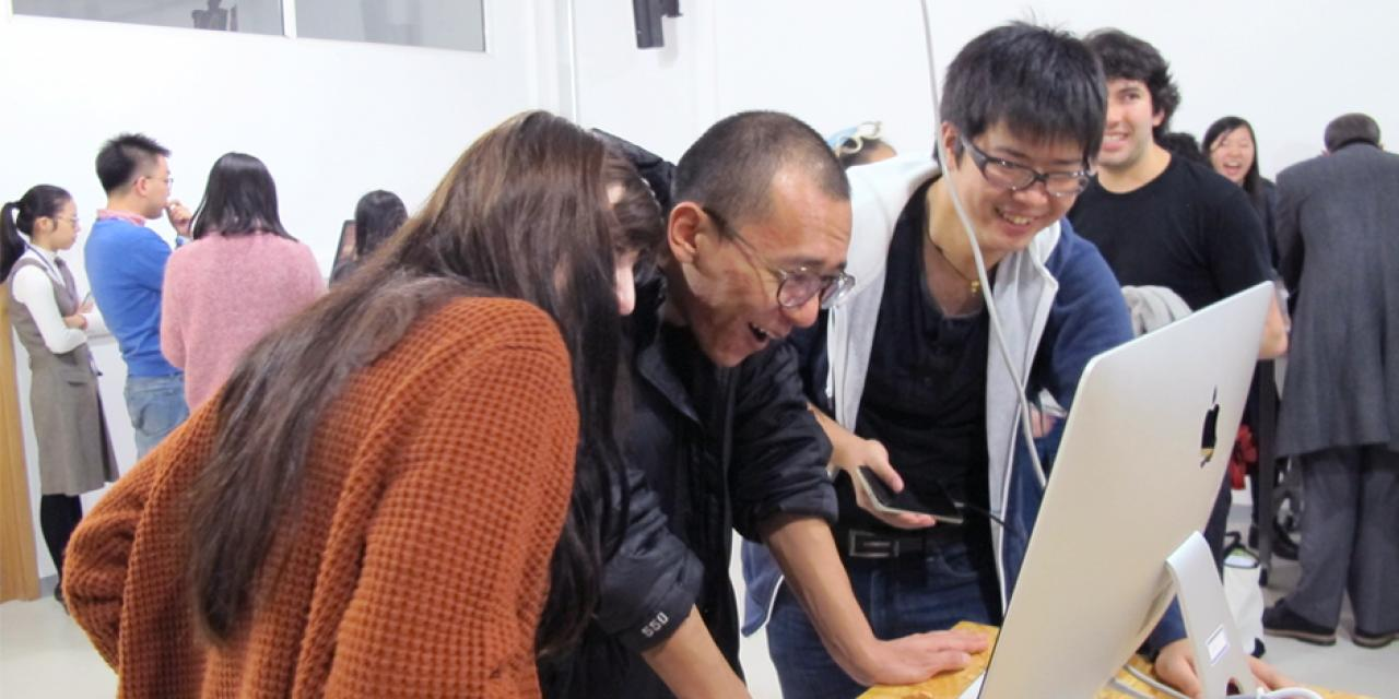 The Interactive Media Arts End-of-Semester Show presented works from several courses, showcasing a dazzling array of image software, acoustic design and textile crafts on December 13. (Photos by: NYU Shanghai)