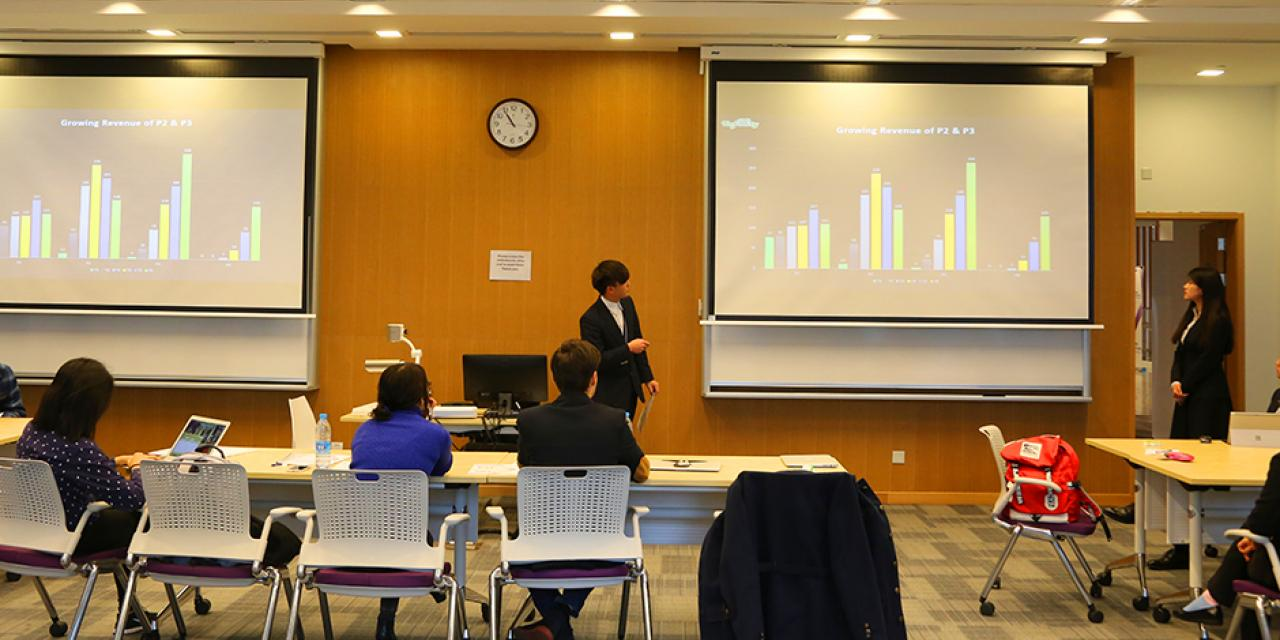 More than 140 students from universities all over Shanghai participated in the student-run 2016 Sand Table business competition on the weekends of March 5 and March 12. (Photo by: NYU Shanghai)