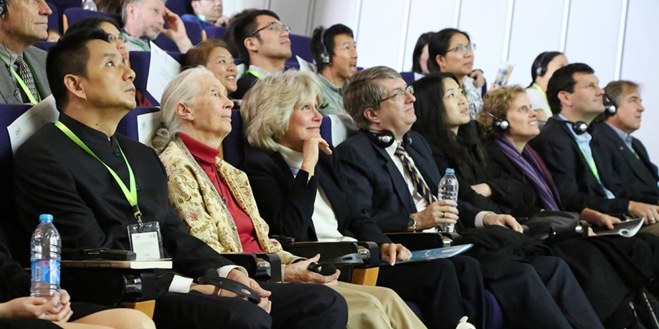 Youth for Environmental Sustainability Forum at NYU Shanghai. Keynote Speaker: Jane Goodall. November 9, 2014. (Photo by Dylan J Crow)