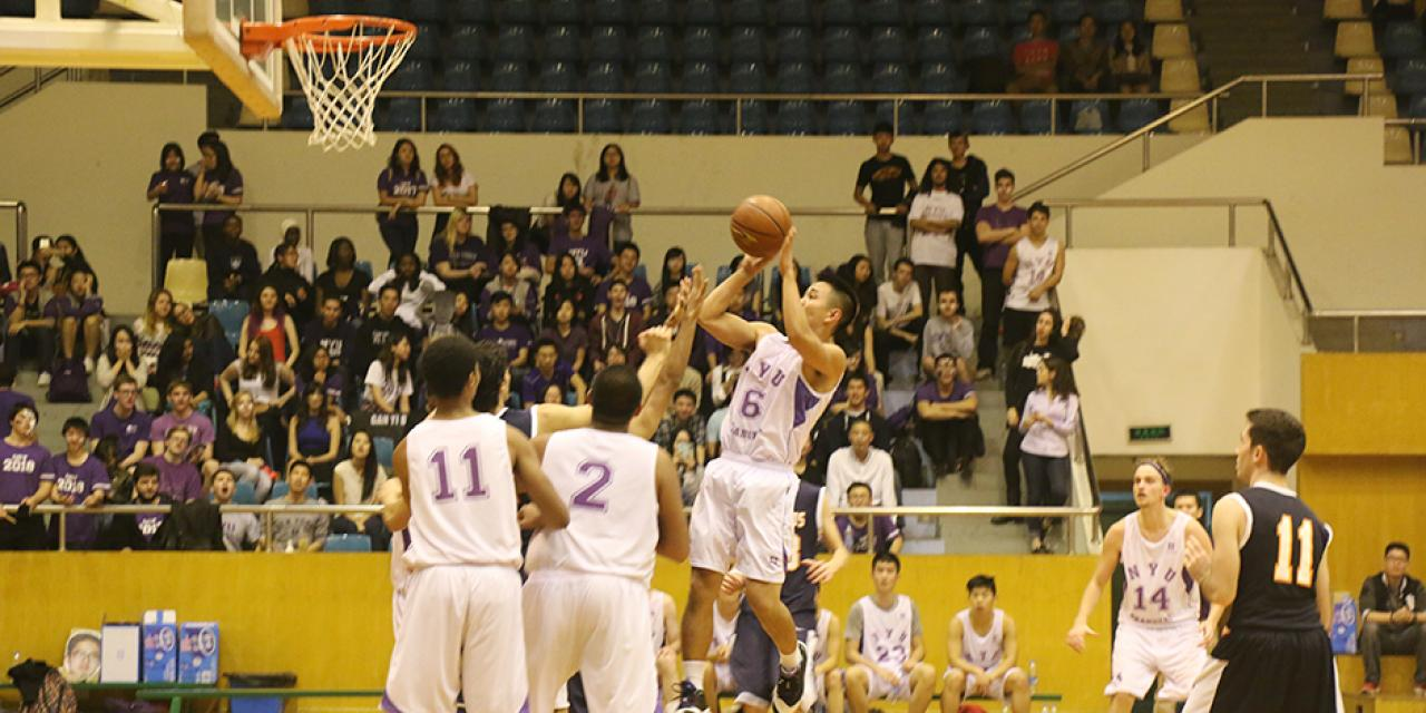 NYU Shanghai vs Yale-NUS Basketball Game, November 1st, 2014. (Photo by Kevin Pham)