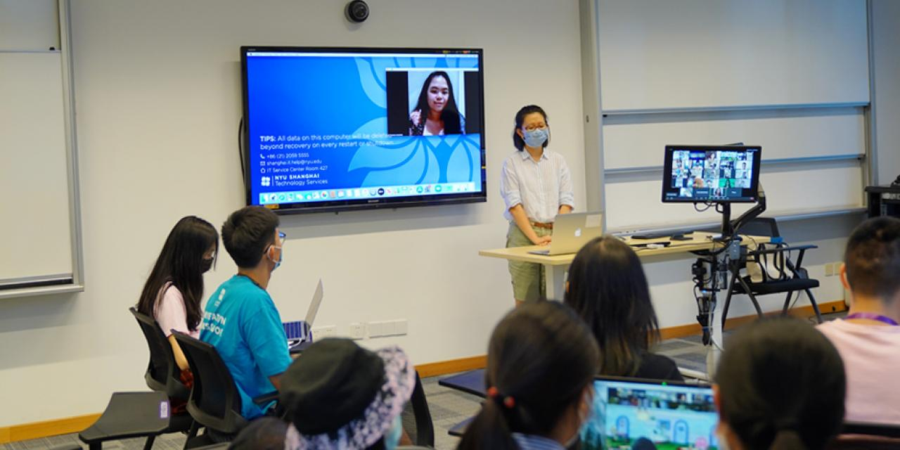 Fifteen Chinese students and one student from South Korea attended the workshop in person while eight international students joined online.