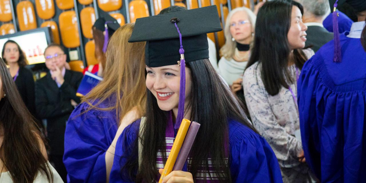On Sunday, May 28, the NYU Shanghai community gathered to celebrate the conferral of degrees to the graduating class of 2017 at the Oriental Arts Center. (Photos by: NYU Shanghai)