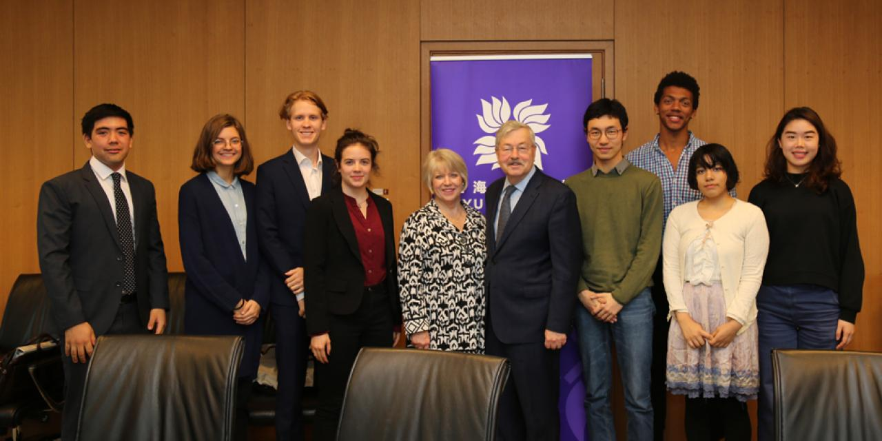 "Following the tour, the ambassador met with a roundtable of students recommended by faculty. ""China is still a mystery to many people in the US,"" Branstad said. ""Programs like [NYU Shanghai], where students get to integrate and get to know each other are really good"" for improving relations between our two countries."