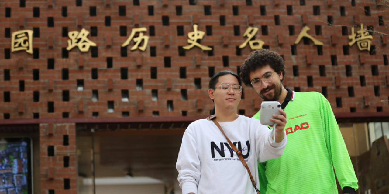 Senior Song Yuanchu '19 took the tour as a chance to show his freshman year roommate and friend Sohrob Moslehi '19 what he likes about the old Shanghai life.