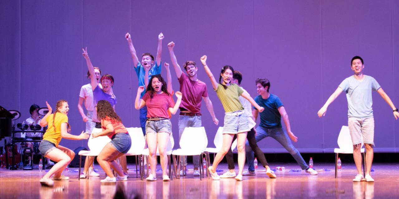 The musical maintained a light and fun tone even as it addressed serious topics such as sexual misconduct, body image, and mental illness.   Photo By Nate Luo '22