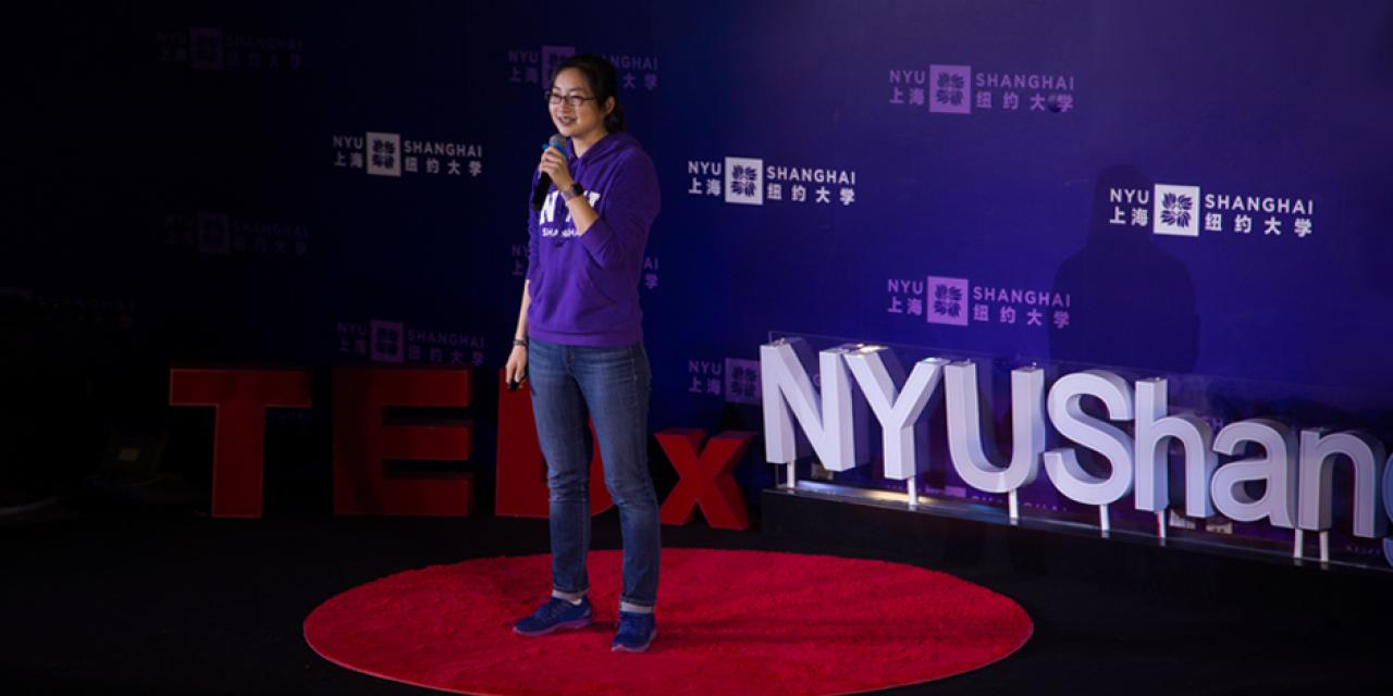 "Zhao Chang, a Schwarzman Scholar at Tsinghua University and former teaching fellow at NYU Shanghai, closed the conference with a call to break the boundary between academia and rest of society. Zhao looked back at her teaching experiences at NYU Shanghai, and advised students to keep an open mind toward career choices, exploring possibilities ""from academia to anywhere."""