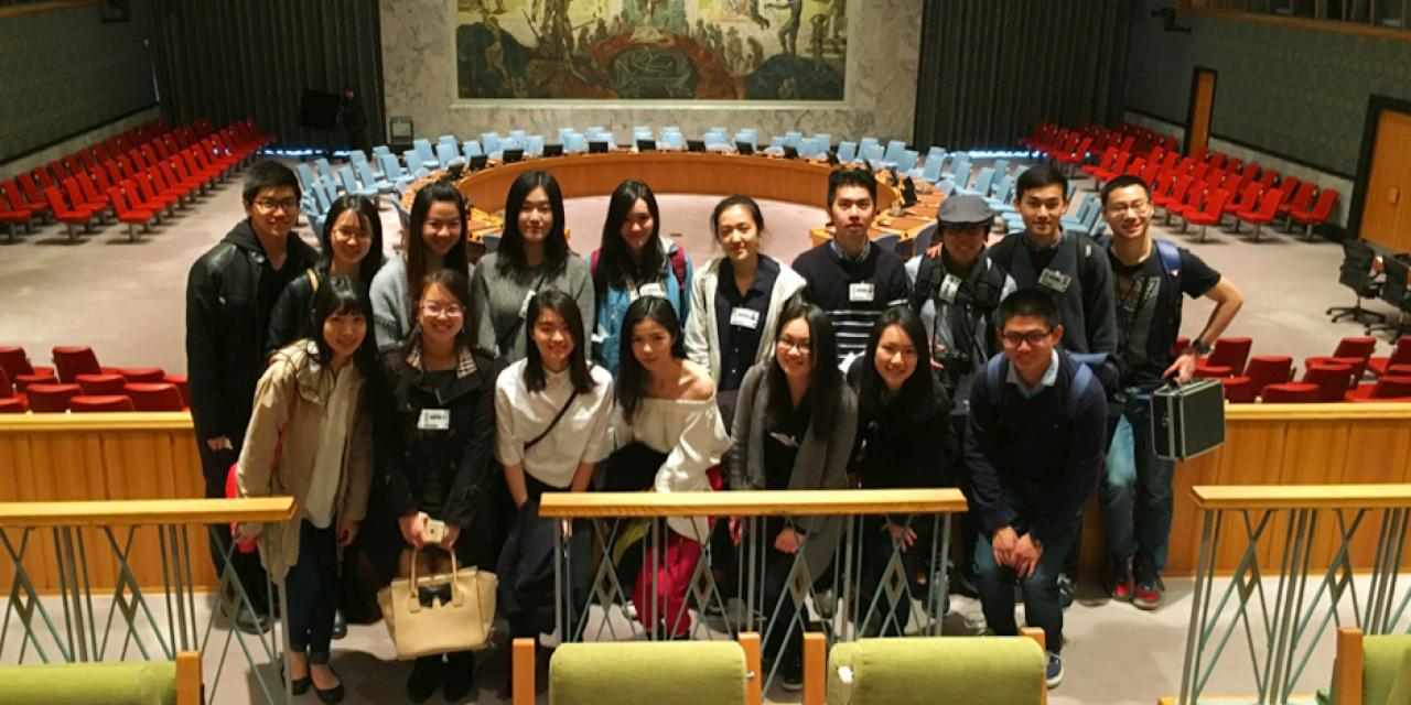 From March to May, NYU Shanghai students currently studying abroad in New York made group visits to the U.N. Headquarters arranged by ECNU alumni. Students were presented with the opportunity to meet with Chinese staff and learned about how they could apply for internships at the U.N. (Photos by: NYU Shanghai)