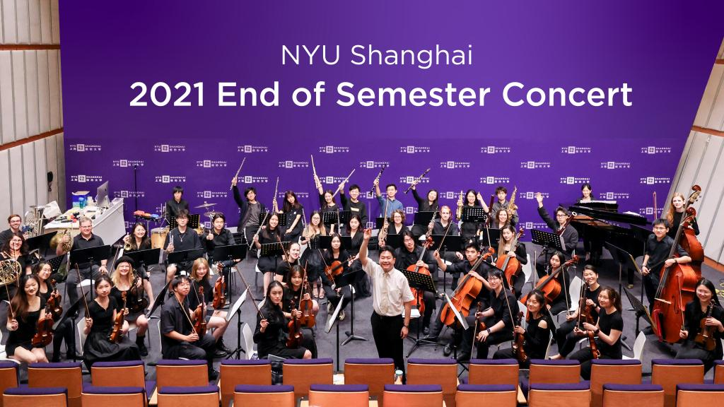 """NYU Shanghai's halls have been filled with music this month as campus music groups shared with enthusiastic audiences the music they've been working on this Spring. The month of performances culminated with the traditional end of semester concert, with selections from the Chamber Orchestra, two a cappella choirs, the Chorale, and the NYU Shanghai Jazz Ensemble. View full video of the entire concert at <a href=""""https://www.youtube.com/watch?v=qKEZhugbO-Q"""">https://www.youtube.com/watch?v=qKEZhugbO-Q</a>"""