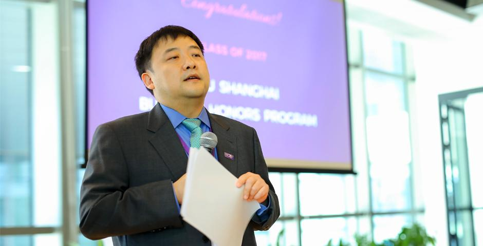 On May 26, Associate Vice Chancellor for Strategy Eitan Zemel, Dean of Business Yuxin Chen and the Business faculty team joined recent graduates and their guests at a completion ceremony in celebration of their many achievements throughout a year-long journey. (Photo by: NYU Shanghai)
