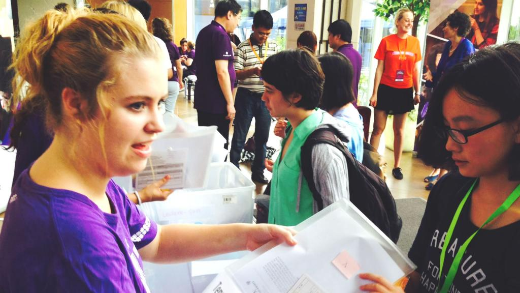 Class of 2018 Move In Day. August 16, 2014. (Photo by WS)