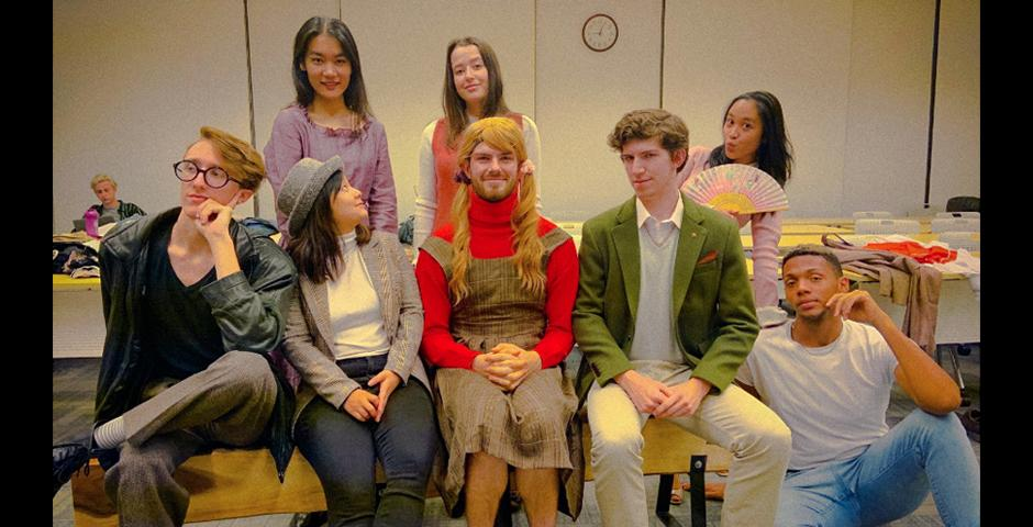 """For Ally Week's grand finale, NYU Shanghai's Thespian Society presented """"Cloud Nine,"""" a gender-bending, witty, biting dark comedy by Caryl Churchill that explored issues of gender, sexuality and race. Photo courtesy of the NYU Shanghai Thespian Society"""