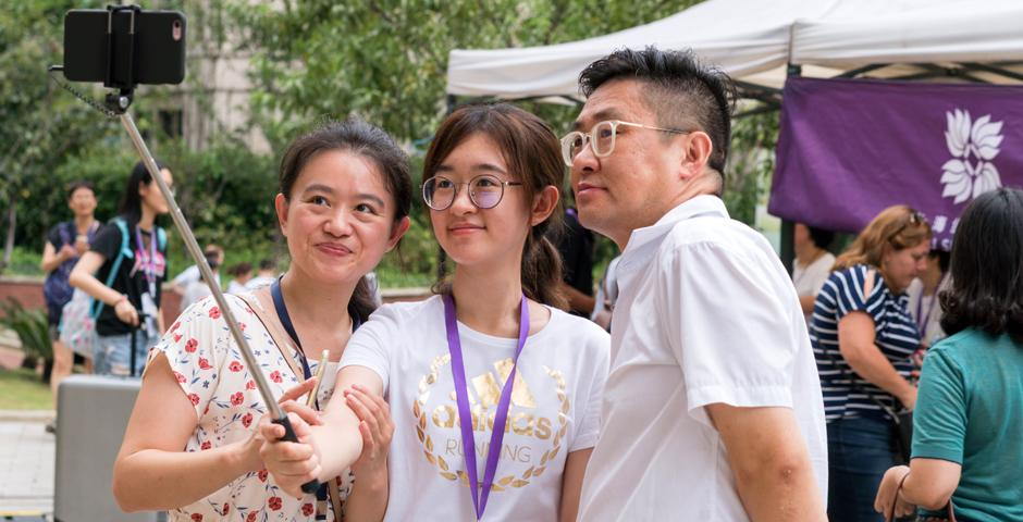Students from 47 countries around the world moved into their new home at Jinqiao residence today. Here are some of our favorite moments from an at times very wet Move-In Day! (Photo by: Mick Ryan )