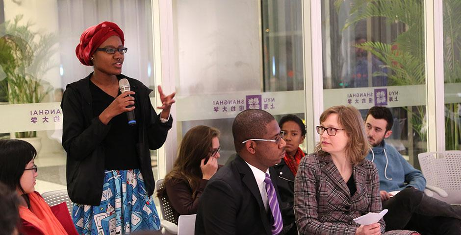 Students and faculty discuss various issues of racism at an open forum event. March 5, 2015. (Photo by Sunyi Wang)