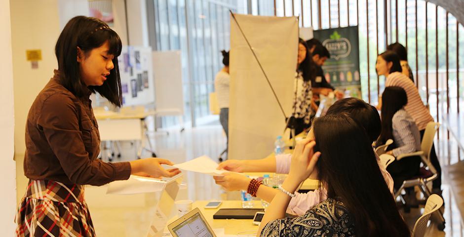 Internship Fair on October 23, 2015. (Photo by: Xinyi Xu)