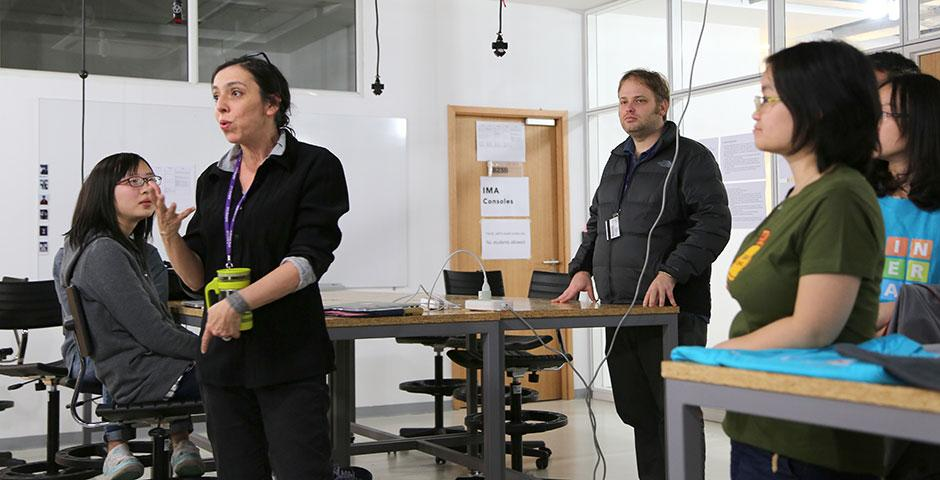 Autodesk, a world leader in 3D design software, teams up with IMA for the Spring 2015 Smart Home Design Challenge. Final projects are set to present on April 27. March 16, 2015. (Photo by Sunyi Wang)