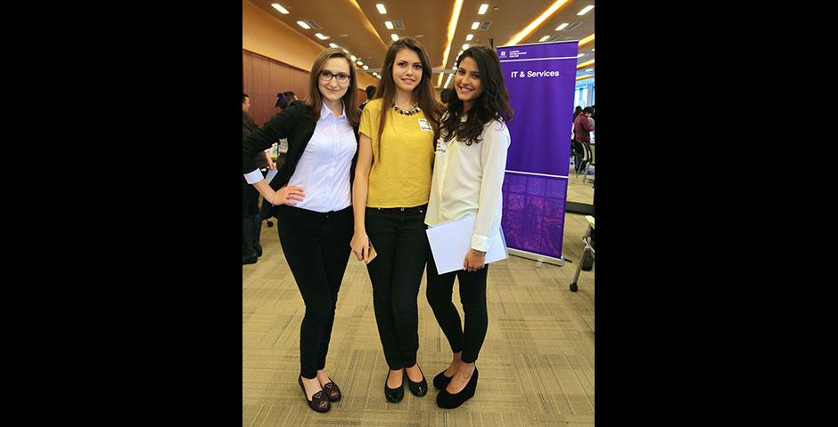 Dozens of organizations ranging from business, finance, arts, media, non-profit, technology, marketing, human resources, consulting, healthcare, and education stopped by NYU Shanghai for the 2015 Summer Internship Fair. March 27, 2015. (Photo by Angie Catalina Aguilar Oyuela)