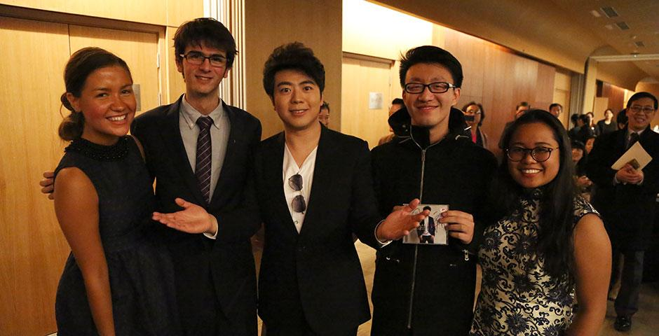 """World renowned pianist Lang Lang joins the NYU Shanghai community for an exclusive concert event at Shanghai Oriental Art Center, """"An Evening with Lang Lang."""" December 8, 2014. (Photo by Dylan J Crow)"""