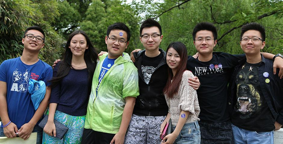 Students gather at ECNU for a Saturday picnic full of games, food, and fun in celebration of the sophomores heading to their respective study away programs for the 2015-2016 academic year. May 9, 2015. (Photo by Kevin Pham)